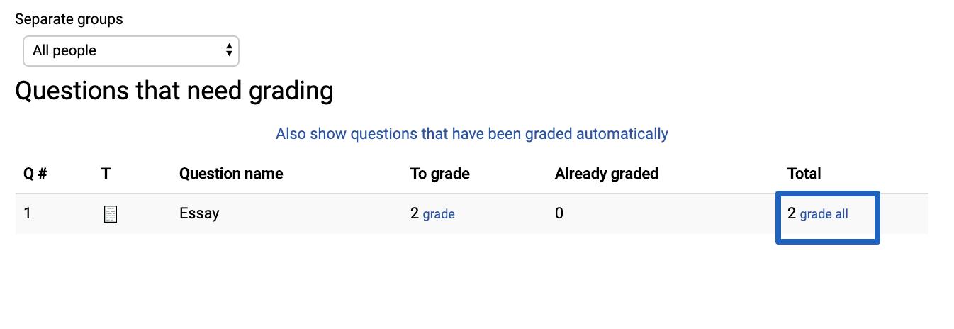 Grading Essay Quiz questions - UCSB Support Desk Collaboration